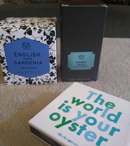 Body Shop Kahaia edp and English Dawn Gardenia edt